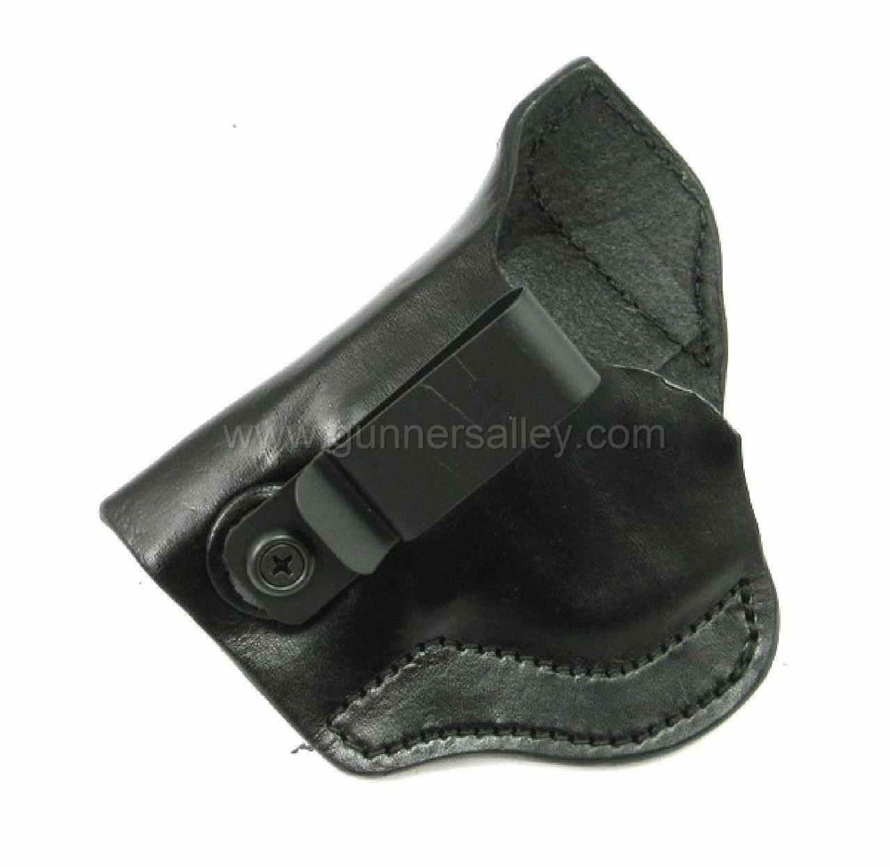 LH Black MTR Custom Tuckable Adversary Clip-On IWB Holster for a S&W Bodyguard .38 with Integrated Laser - Side View