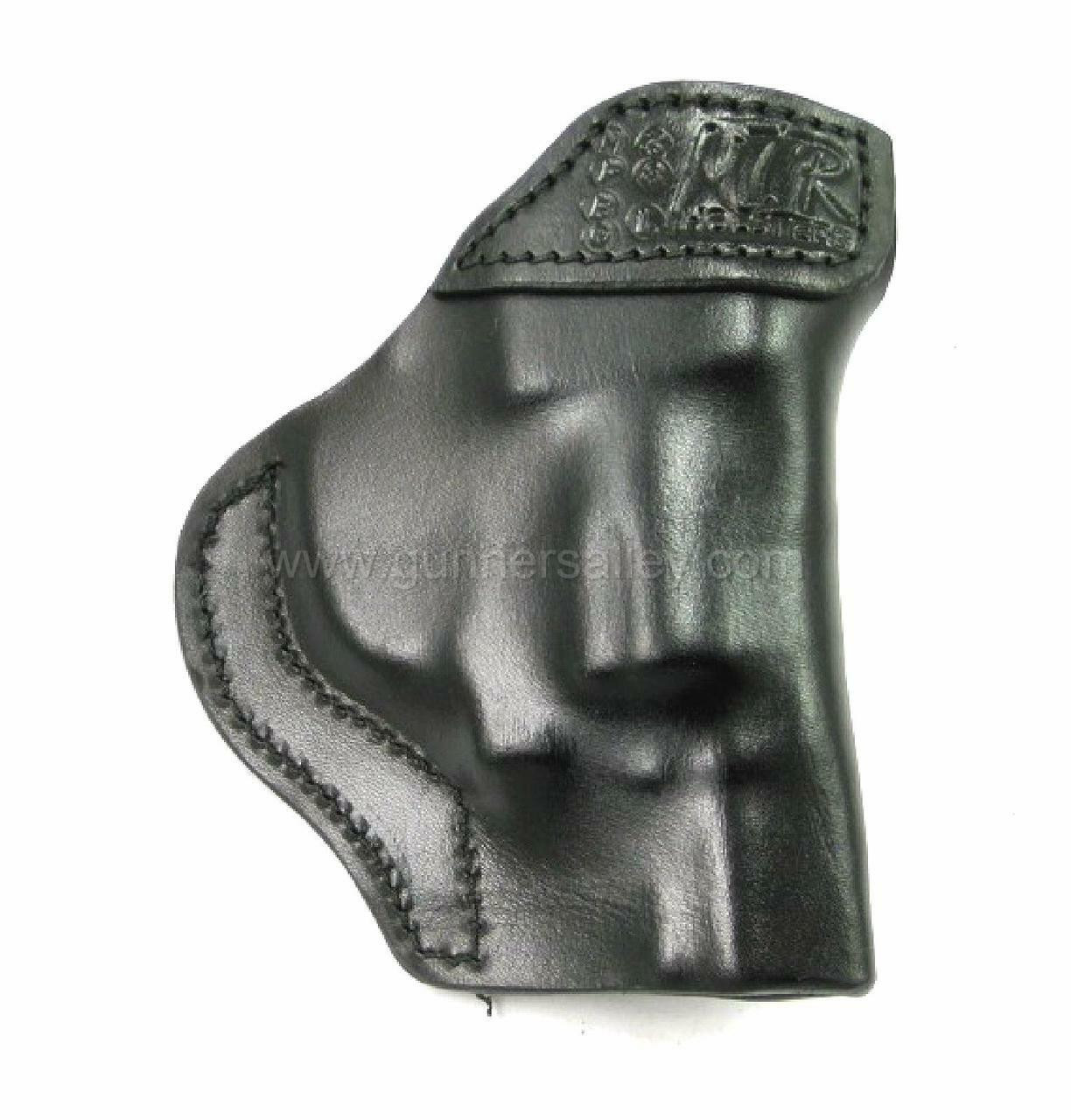 LH Black MTR Custom Tuckable Adversary Clip-On IWB Holster for a S&W Bodyguard .38 with Integrated Laser - Rear View
