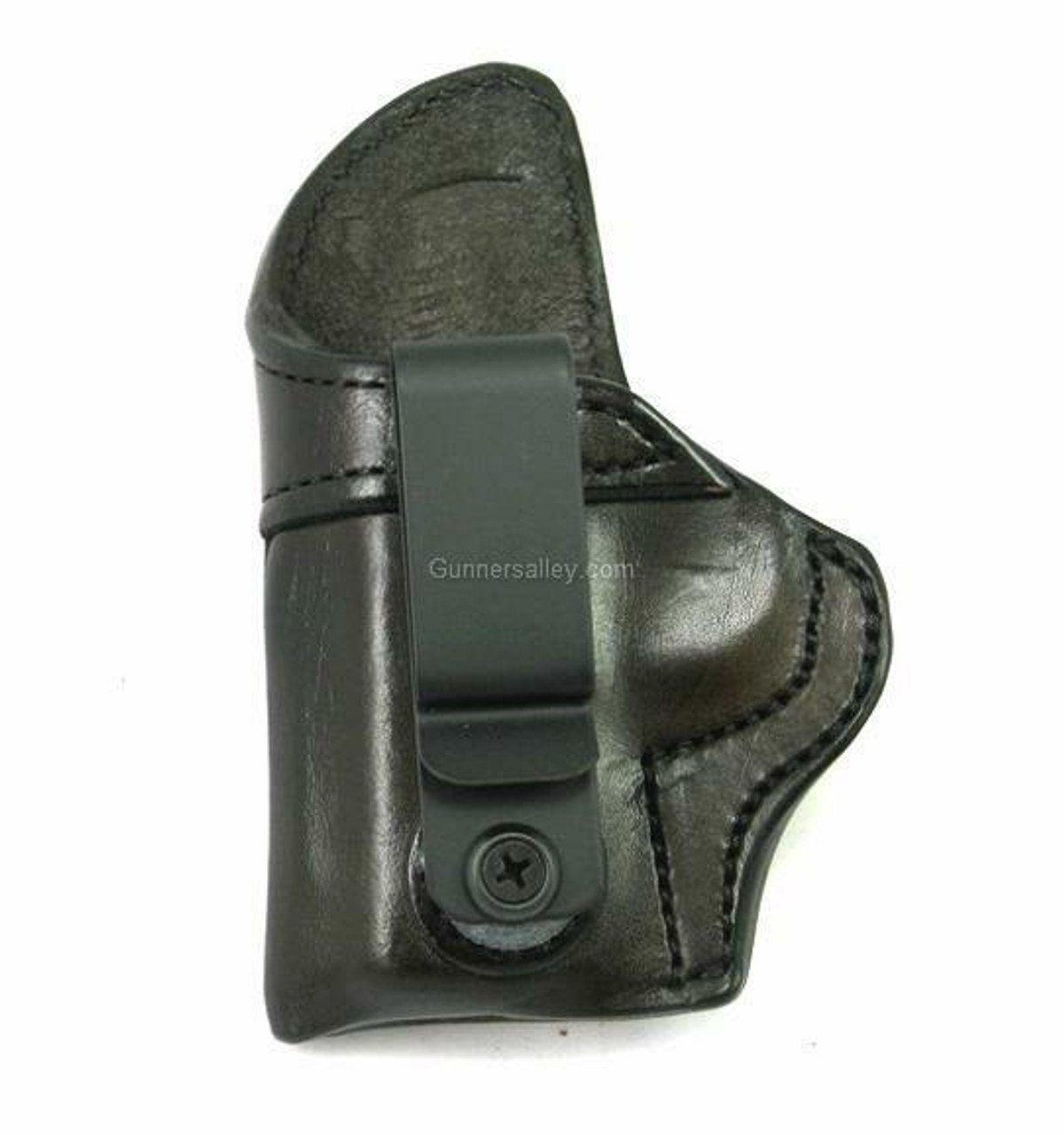 LH Dark Brown MTR Custom Tuckable Adversary Clip-On IWB Holster for a Kimber Micro 380  -Front View