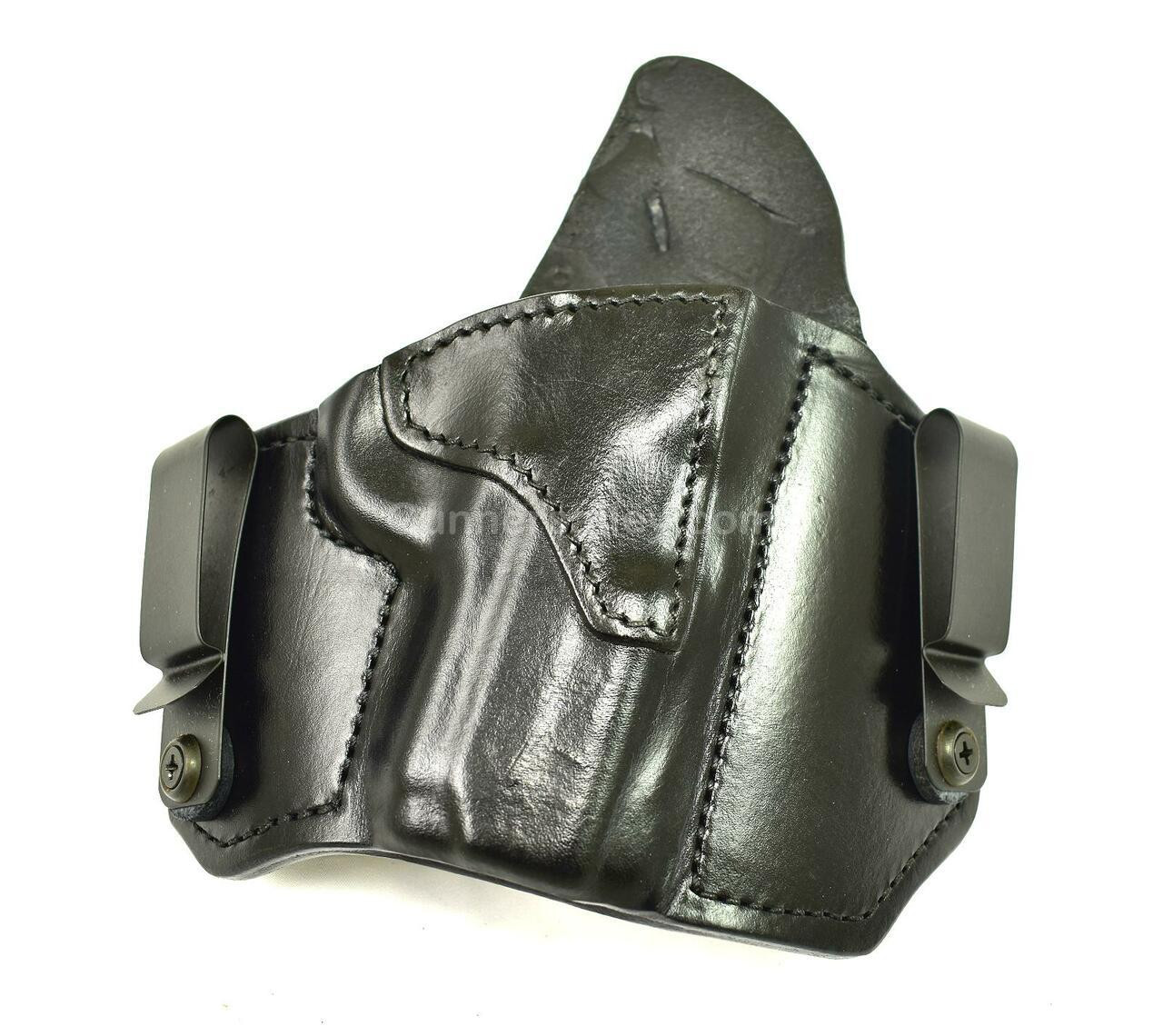"""RH Black MTR Custom Dual Carry Holster for a Sig 1911 3.3"""" Barrel - Front View"""