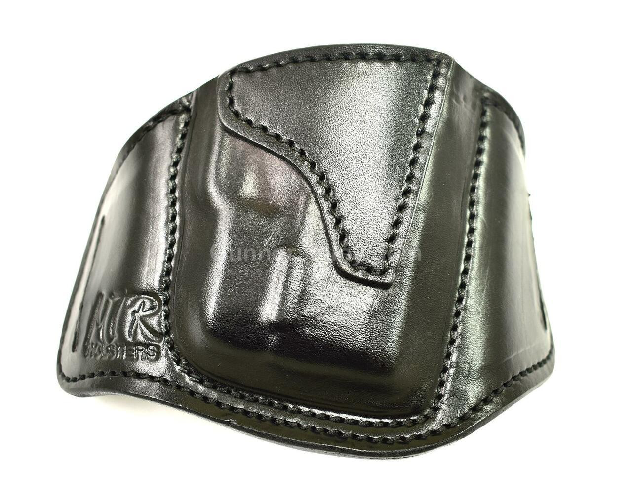 RH Black MTR Custom Deluxe Full Size Pancake Holster for a Sig P365 with a Crimson Trace LG-422 Laser Mounted - Front View