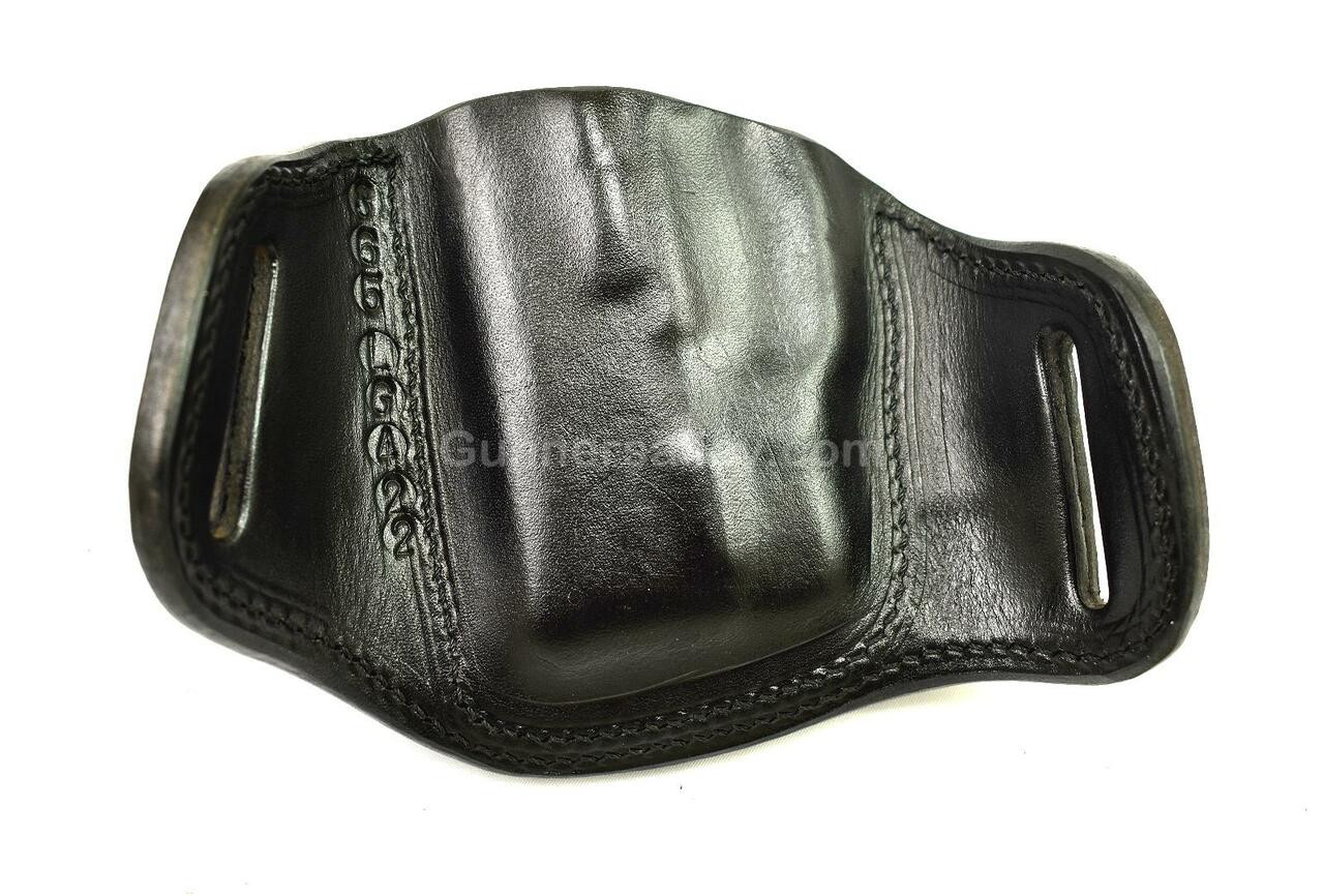 RH Black MTR Custom Deluxe Full Size Pancake Holster for a Sig P365 with a Crimson Trace LG-422 Laser Mounted - Rear View