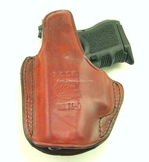 Rear View - Shown with a Glock 26 model for Demonstration Purposes