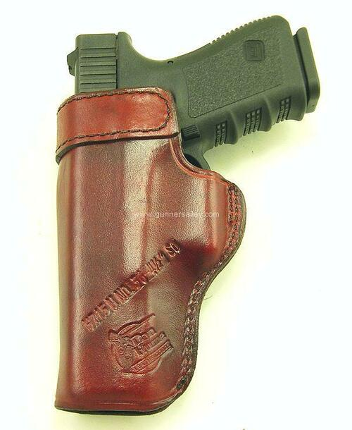 Rear View - Saddle Brown - Shown with a Glock 17 for Demonstration Purposes