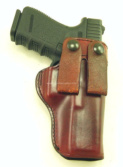 Front View - Saddle Brown - Shown with a Glock 17 for Demonstration Purposes