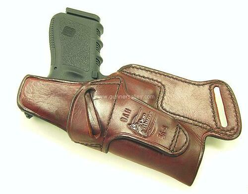 Rear View - RH Saddle Brown - Shown with a Glock 19 for Demonstration Purposes