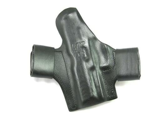 Rear View of a Right Hand Black MTR Custom Deluxe Full Size Quick Snap Holster  for a H&K VP9