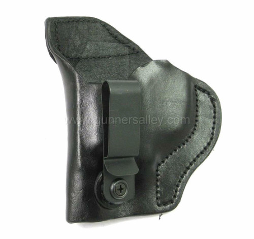 LH Black MTR Custom Tuckable Adversary Clip-On IWB Holster for a S&W Bodyguard .38 with Integrated Laser - Front View