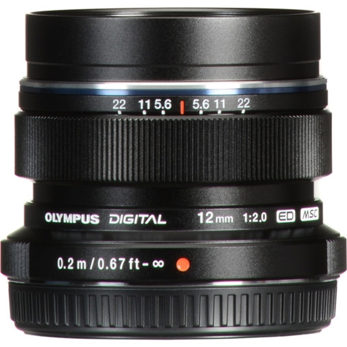Olympus M.Zuiko Digital ED 12mm f2.0 Lens (Black)