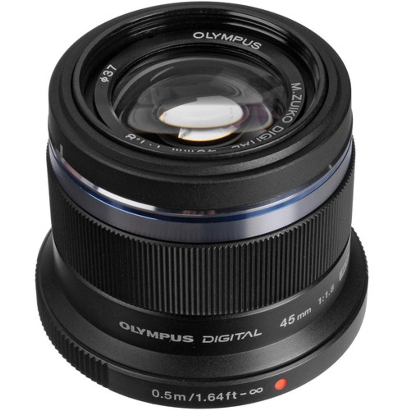 Olympus M.Zuiko Digital ED 45mm f1.8 Lens (Black)