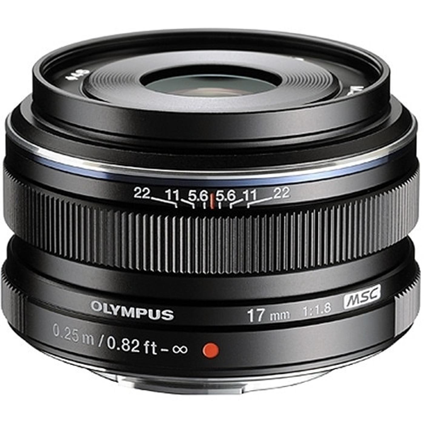 Olympus M.Zuiko Digital 17mm f1.8 Lens (Black)