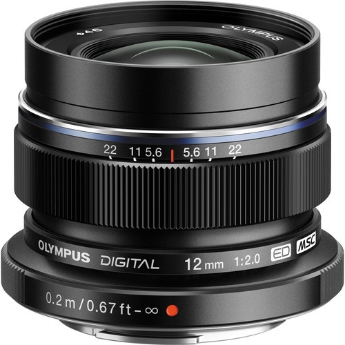 Olympus M.Zuiko Digital ED 12mm f2.0 Lens (Black)