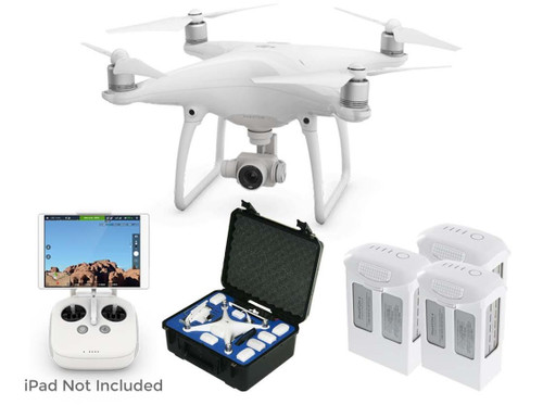 Phantom 4 Pro V2.0 Quadcopter with 2 Spare Batteries and GoProfessional Case