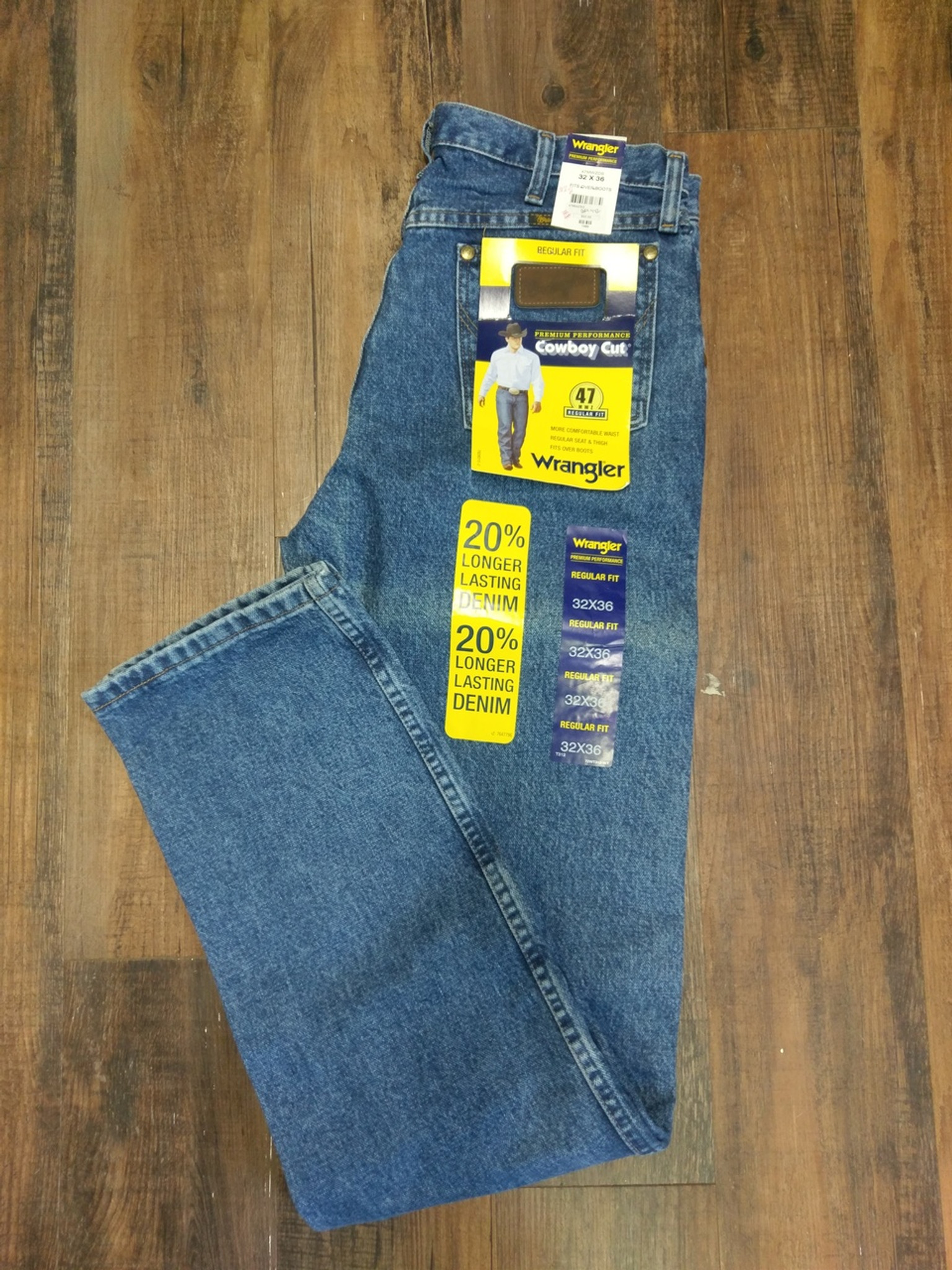 1d812955 Wrangler Mens Jeans Dark Stone Regular Fit 47MWZDS, NEW, various sizes, 30%  off new retail! - Hitchin' Post Trailers, LLC