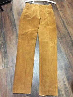9x33 Ladies Suede Leather Pants by Wrangler