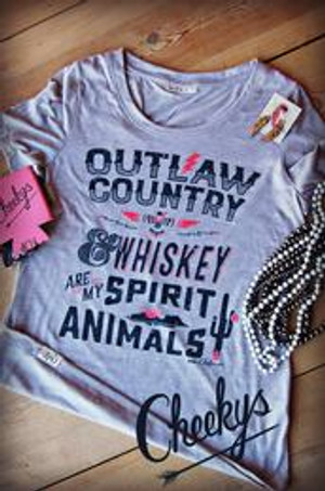 "Cheekys ""Outlaw Country"" Tee"