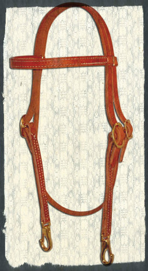 NEW Browband Headstall with Brass Clips