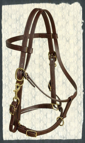 Also offered in black, headstall has stainless steel hardware not brass.