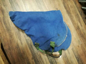 Blue English Saddle Cover