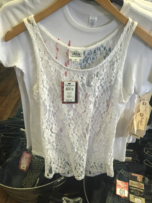 Ariat Lace Tank, *NEW* with tags, ladies sizing, 30% off retail, various sizes available