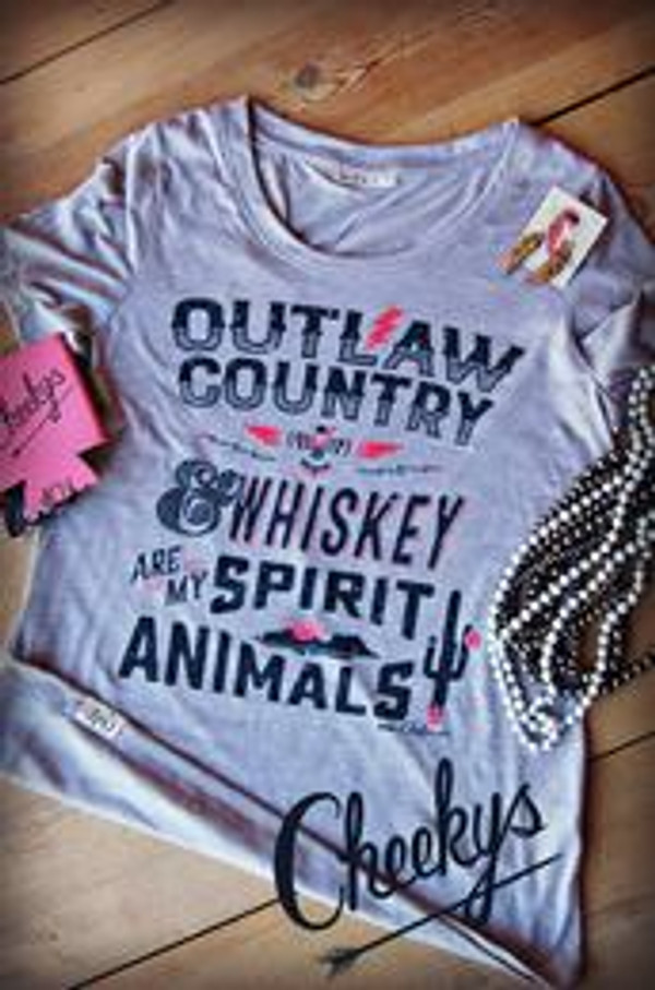 "Cheekys ""Outlaw Country"" Tee SALE- FREE SHIPPING"