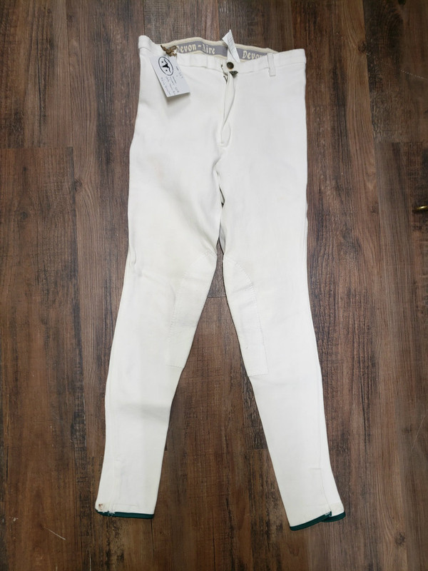 30R Womens Devon-Aire White Riding Breeches