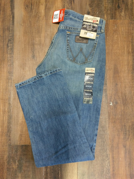 32x34 Wrangler Men's 20X 01 Competition Relaxed-Fit Jean, NEW, 01MWXCB, 30% off original retail
