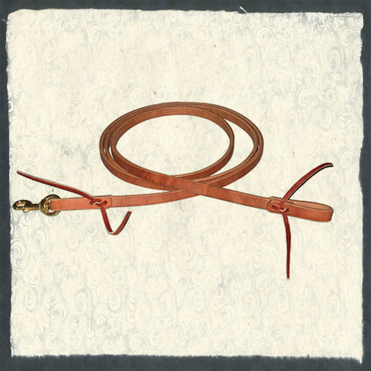 """New Flat Roper Reins, 1/2"""" x 7' by Berlin Leather"""