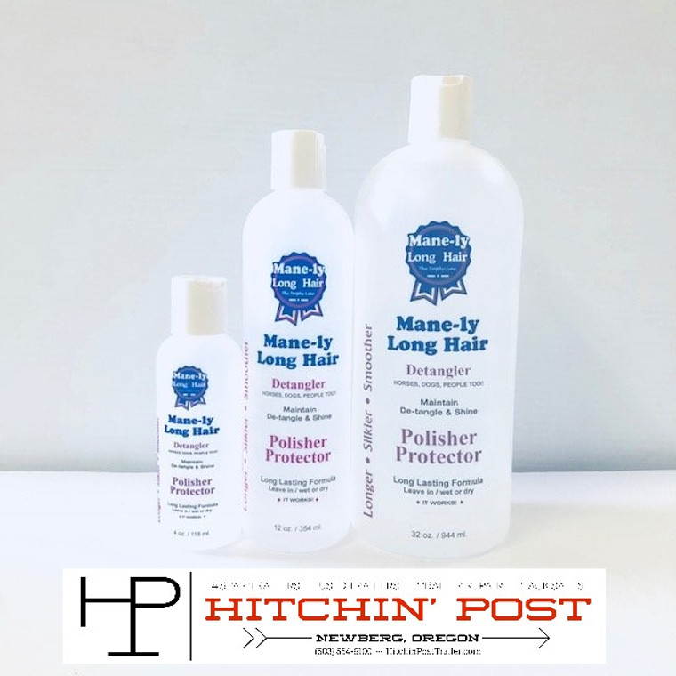 12oz. MANE-LY PROTECT/ DETANGLE Tangle Free Hair for Stronger-Longer-Silkier