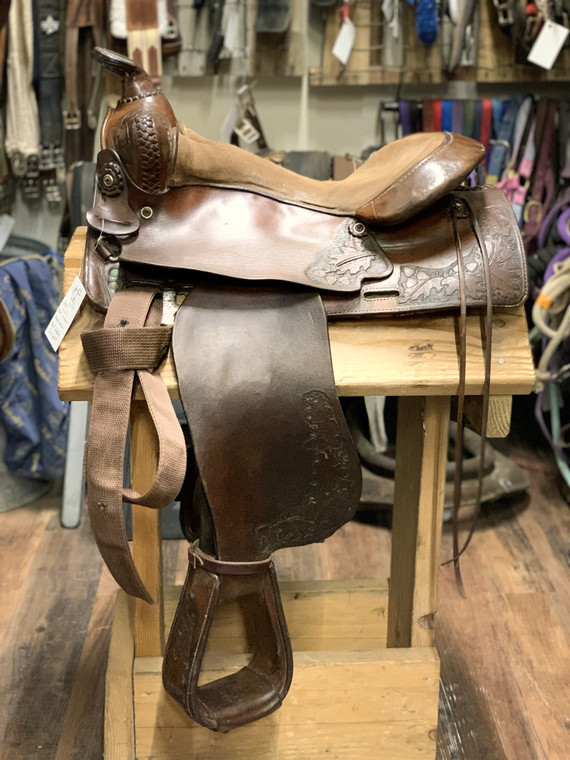 "14.5"" Unknown Brand Western Trail Saddle"