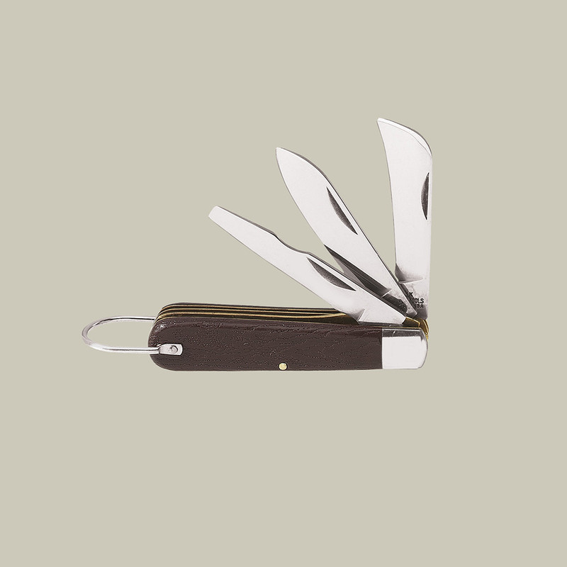 3 Blade Pocket Knife with Screwdriver