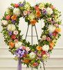 Always Remember Pastel Floral Heart Tribute Florist Inglewood California