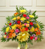 Heartfelt Tribute Bright Floor Basket Arrangement Flowers Inglewood California