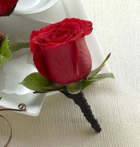 Red Rose Boutonniere Inglewood California Florist