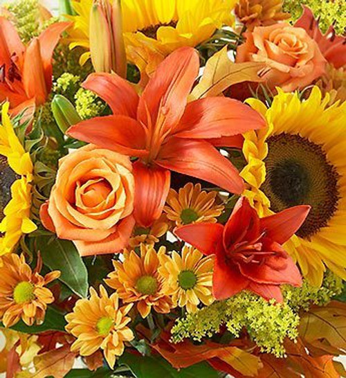 Can't decide on what bouquet to send? Let our professional designers create something spectacular from the season's best selection. Your hand-delivered bouquet will arrive beautifully arranged in a glass vase and reflect the amount you have spent.  Flowers will vary and may not include flowers pictured.