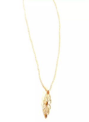Filigree Pendant/Necklace accented with Topaz Swarovski Crystals