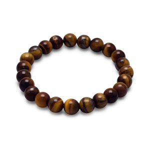 "8mm tiger's eye bead stretch bracelet.  Size 7""long."