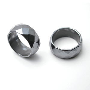 6mm Faceted Hematite Ring