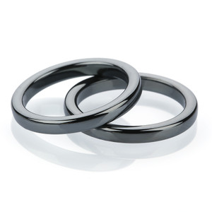 4mm Magnetic Hematite Flat Ring