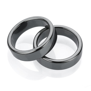 6mm Magnetic Hematite Flat Ring