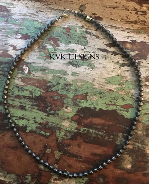 Faceted Hematite Bead Necklace