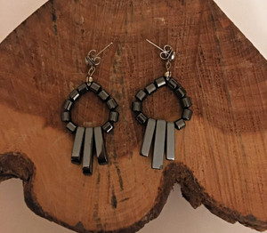 Hematite Door Knocker Earrings