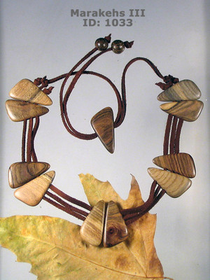 Marakehs (III) Wooden Necklace