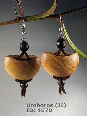 Uroboros (II) Wooden Earrings