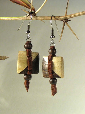 Bushman Wooden Earrings