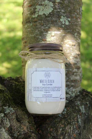 16 oz White Birch Soy Candle