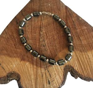 Hematite Barrel Bead Bracelet