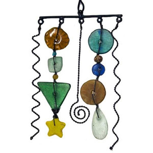 Metal And Glass Bead Mobile