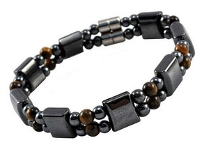 Men's Magnetic Hematite Tiger Eye Bracelet