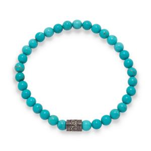 Blue Magnesite Bead Bracelet